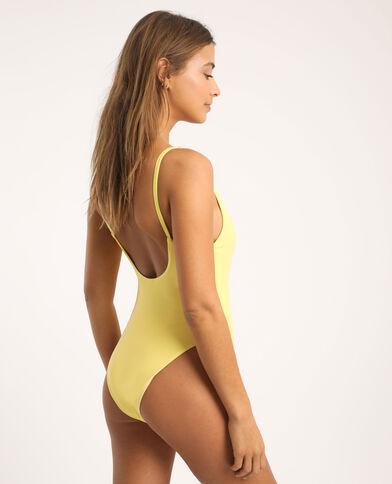 Laag uitgesneden badpak geel