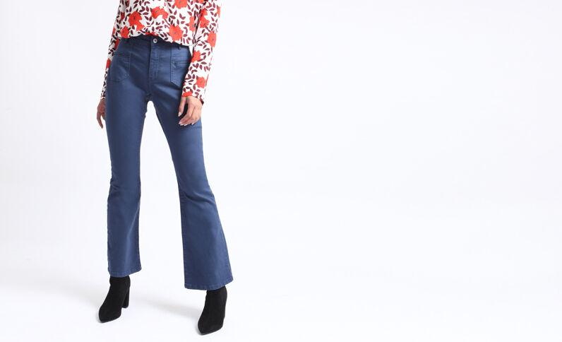 Pantalon flare bleu foncé