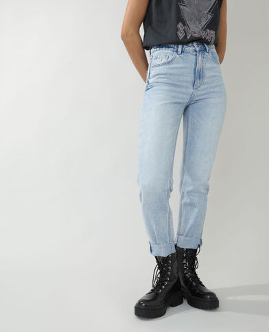 Jean straight high waist bleu clair - Pimkie