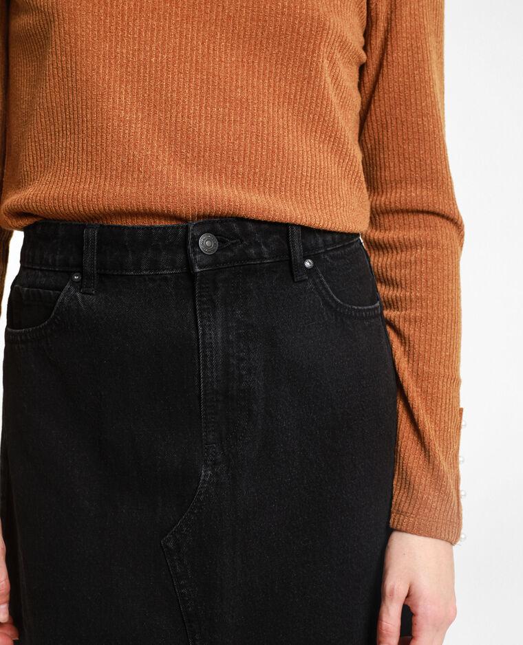 Jupe midi en jean gris foncé