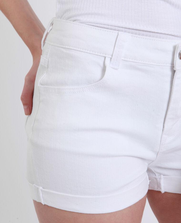Jeansshort wit - Pimkie