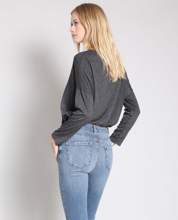 T-shirt met lange mouwen grijs