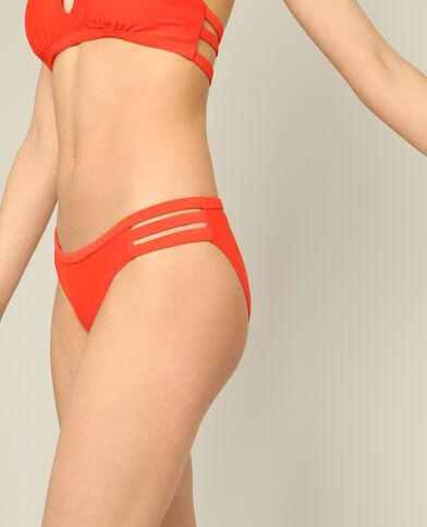 Effen bikinislip rood