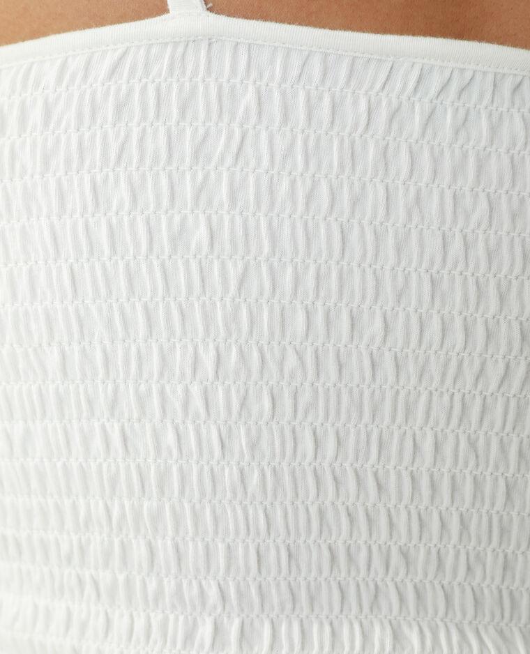 Top met smokwerk gebroken wit - Pimkie