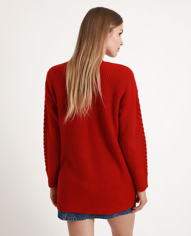 Gilet long rouge