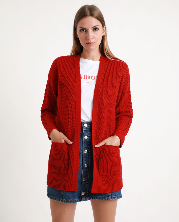 Gilet long rouge