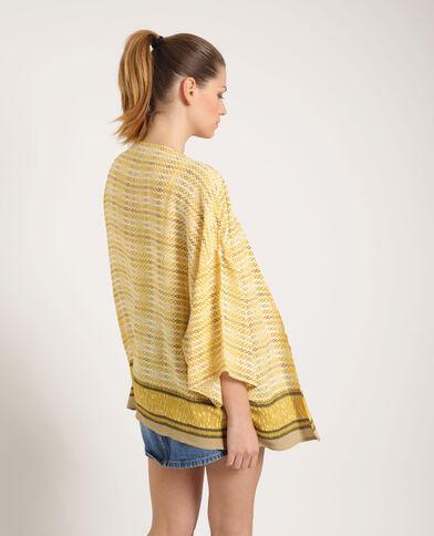 Bedrukte kimono geel