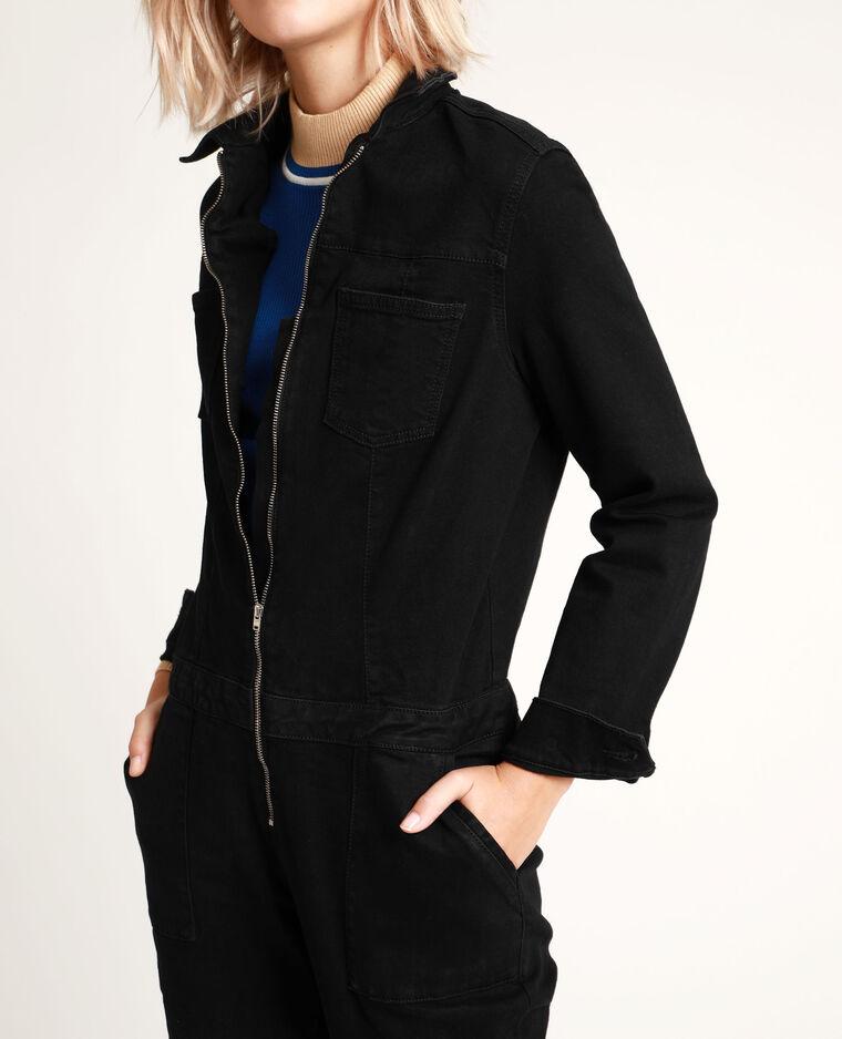 Combi-pantalon en jean noir