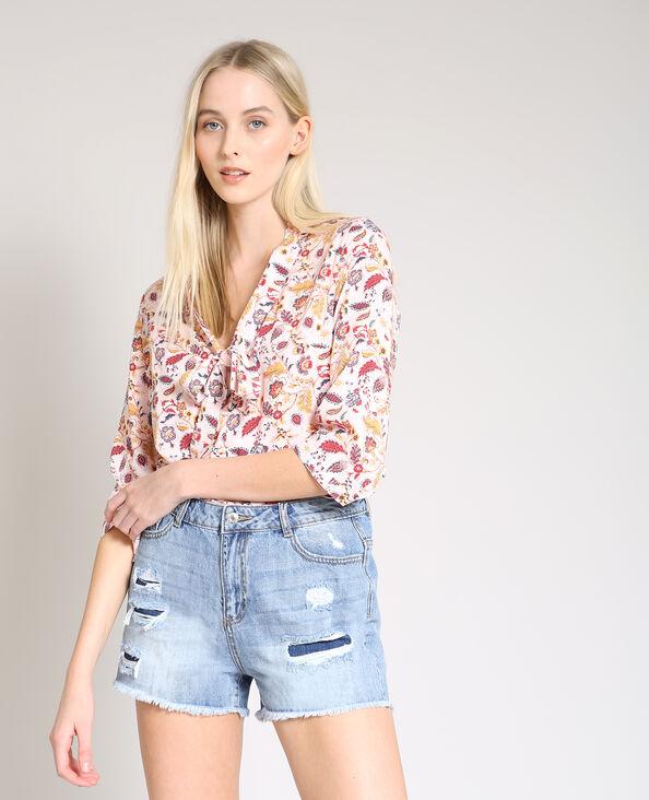 Overhemd met V-hals roze