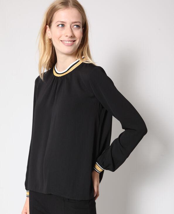 Sportieve blouse zwart