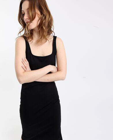 Strakke jurk zwart
