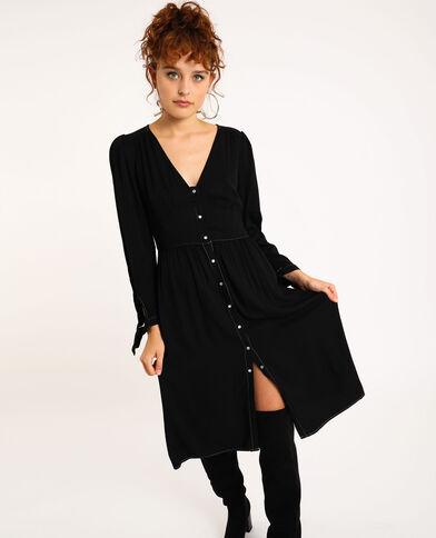 Halflange jurk zwart