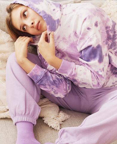 Sweat à capuche violet