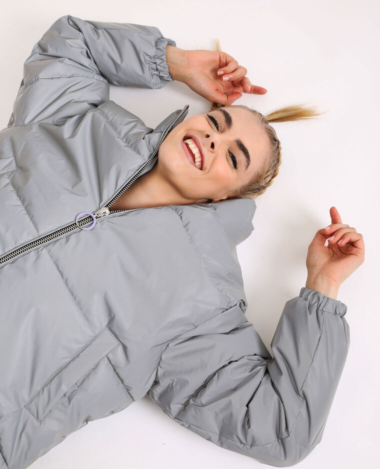 Doudoune oversized gris