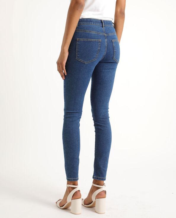 Jean skinny mid waist bleu brut