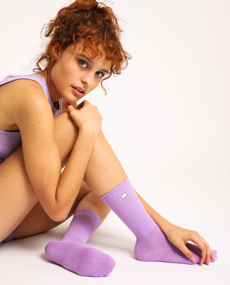 Loungewear sokken vioolpaars