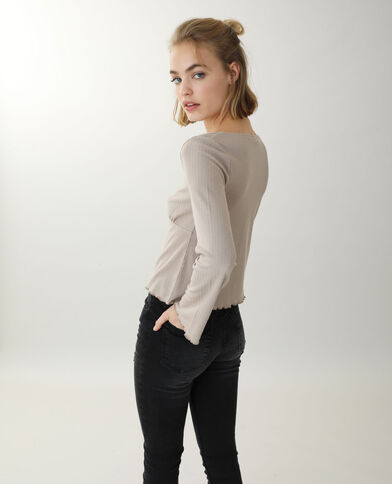 Top manches longues beige