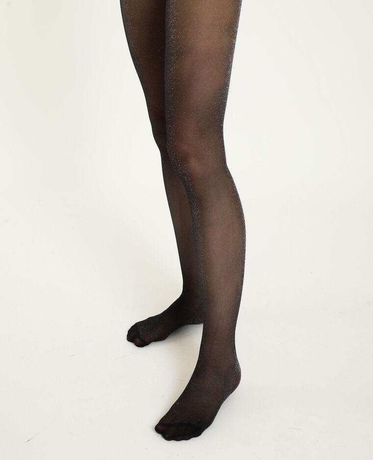 Panty's van lurex zwart