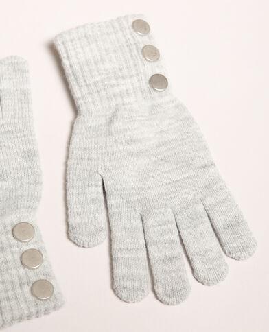 Handschoenen met knopen grijs