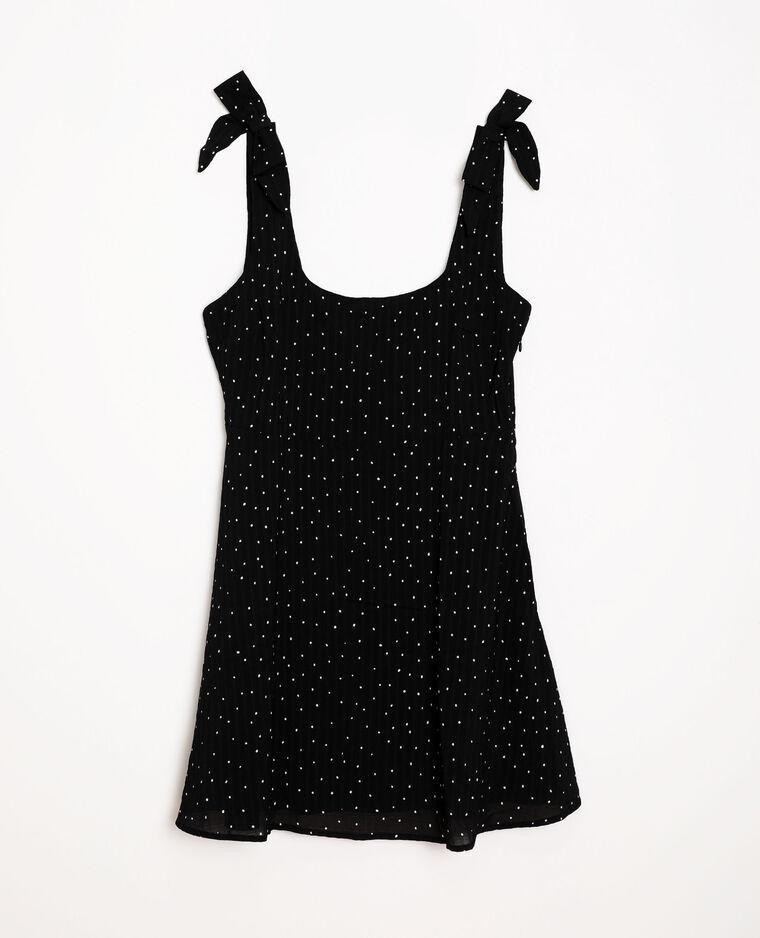 Robe à imprimé noir