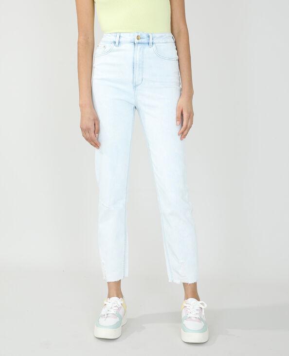 Straight-fit jeans met hoge taille Lichtblauw - Pimkie