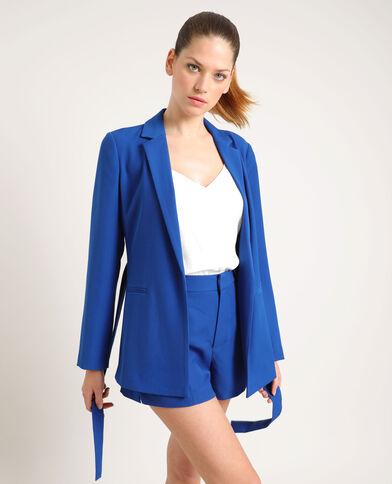 Blazer à ceinture bleu