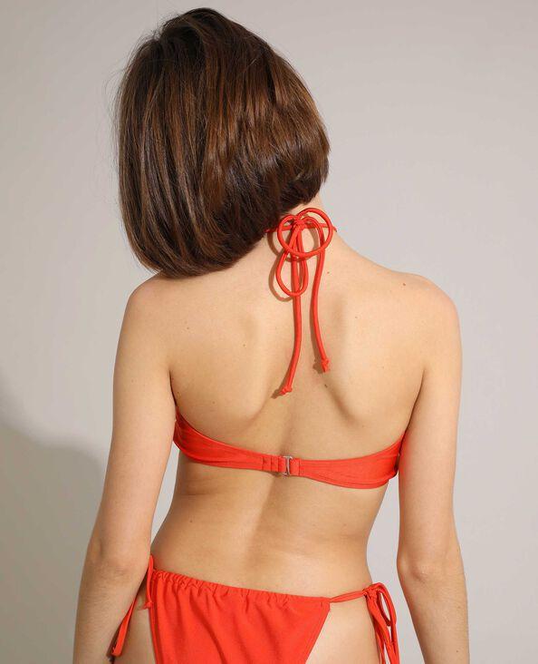 Haut de maillot bandeau transformable orange - Pimkie