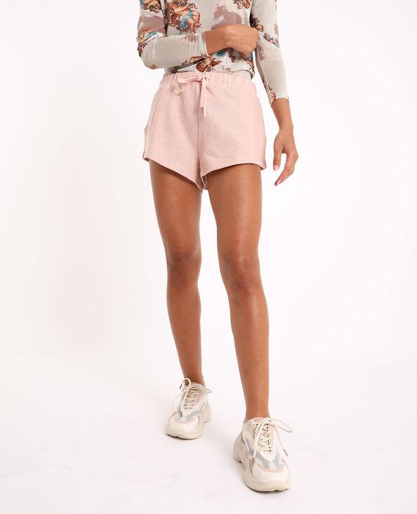 Short van tricot roze