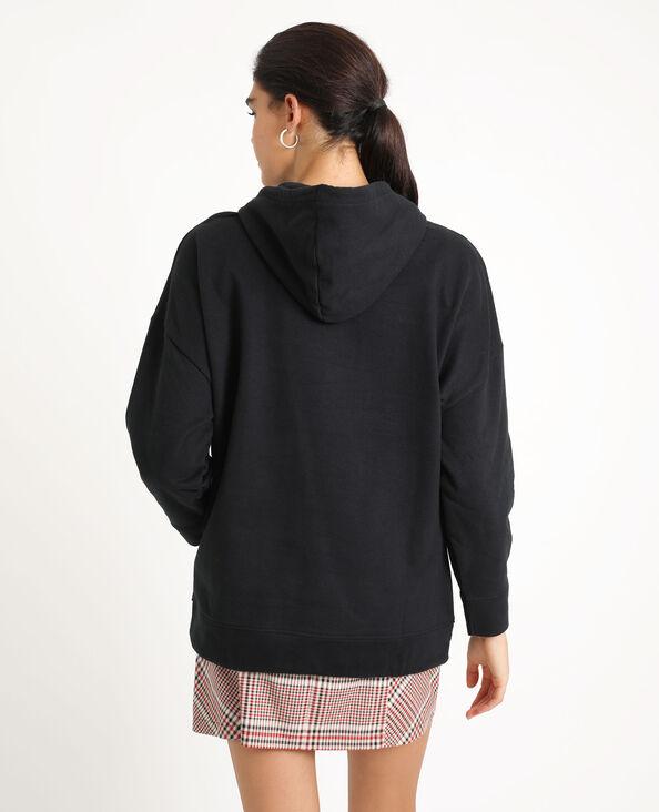Oversized sweater met kap zwart