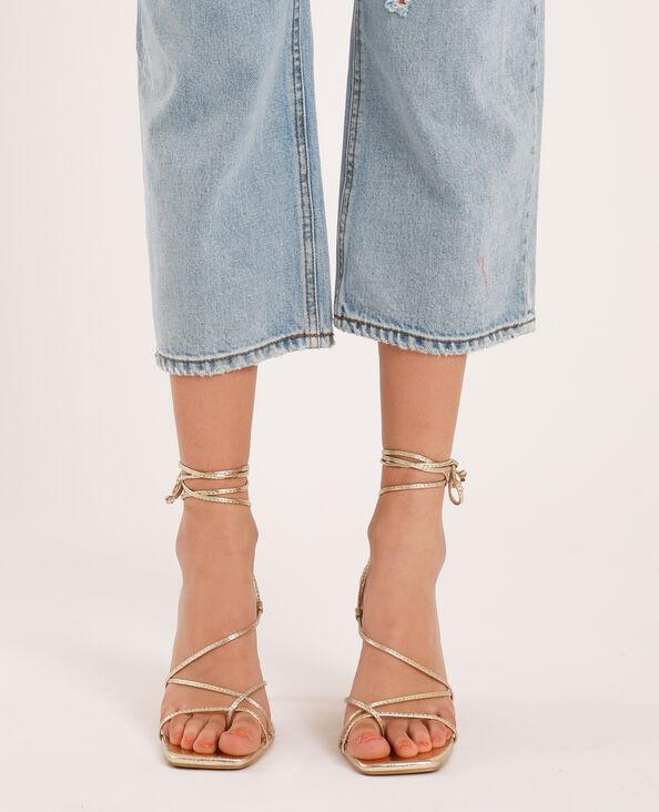 Sandales à talons doré