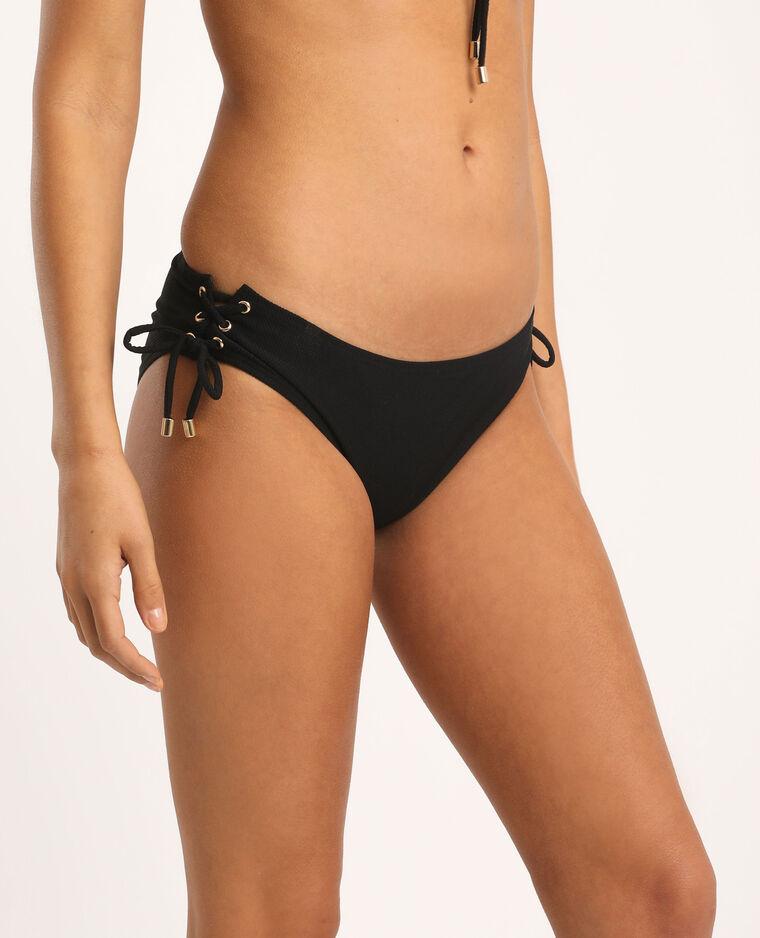 Bas de bikini à lacets noir