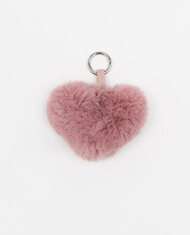 Hartvormige sleutelhanger roze