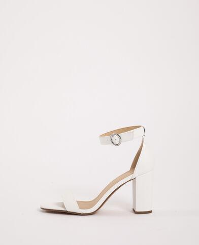 Sandalen met hoge hakken ecru