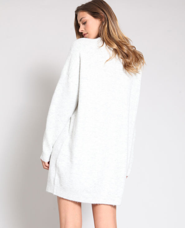 Robe pull gris chiné