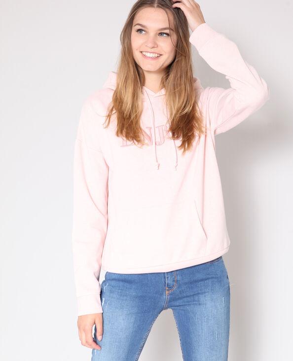 Sweater met kap roze
