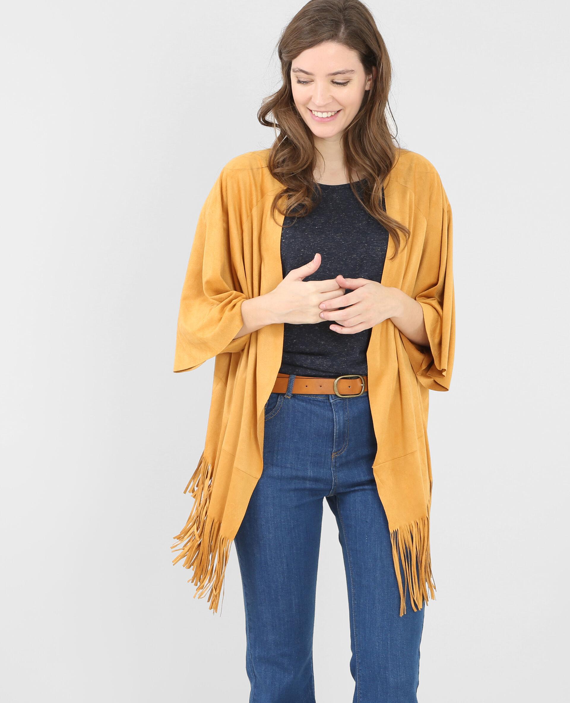 Veste en suedine jaune