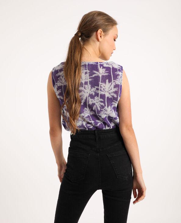 Body imprimé violet