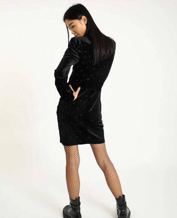 Robe velours ras noir