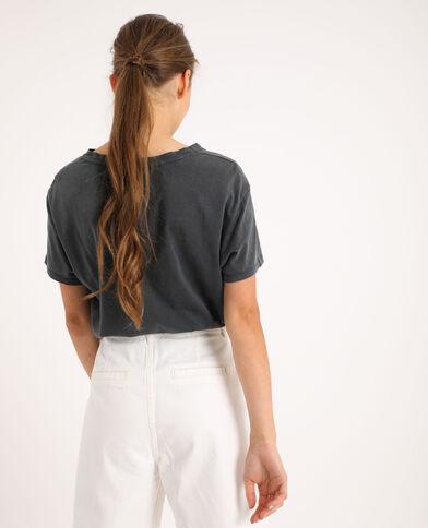 T-shirt imprimé gris anthracite
