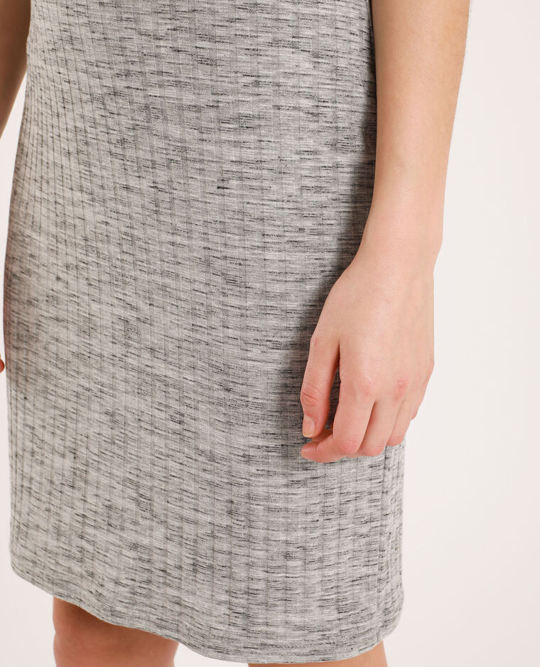 Robe côtelée gris