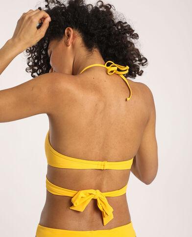 Bikinitop met strikje geel