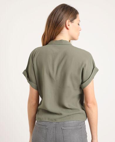 Gekruiste blouse groen