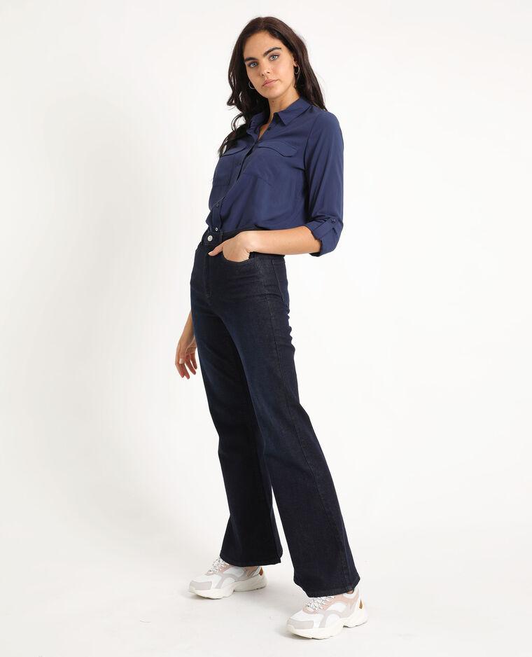 Chemise à poches bleu marine