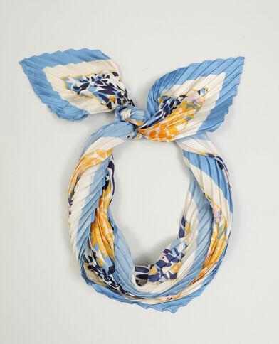 Sjaal met bloemenprint blauw