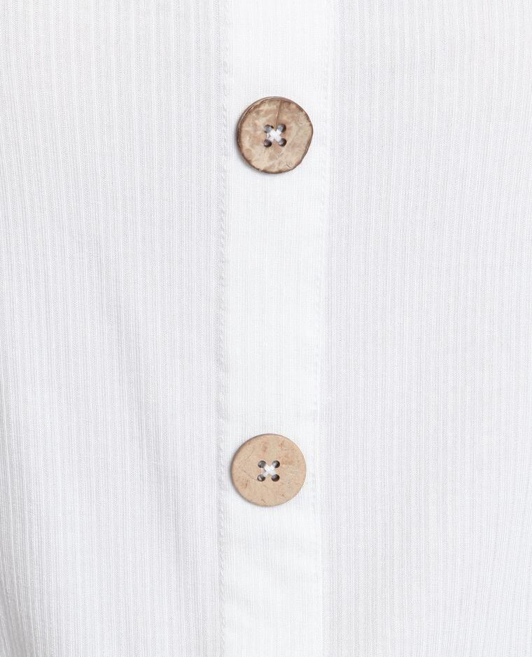 Top à boutons blanc