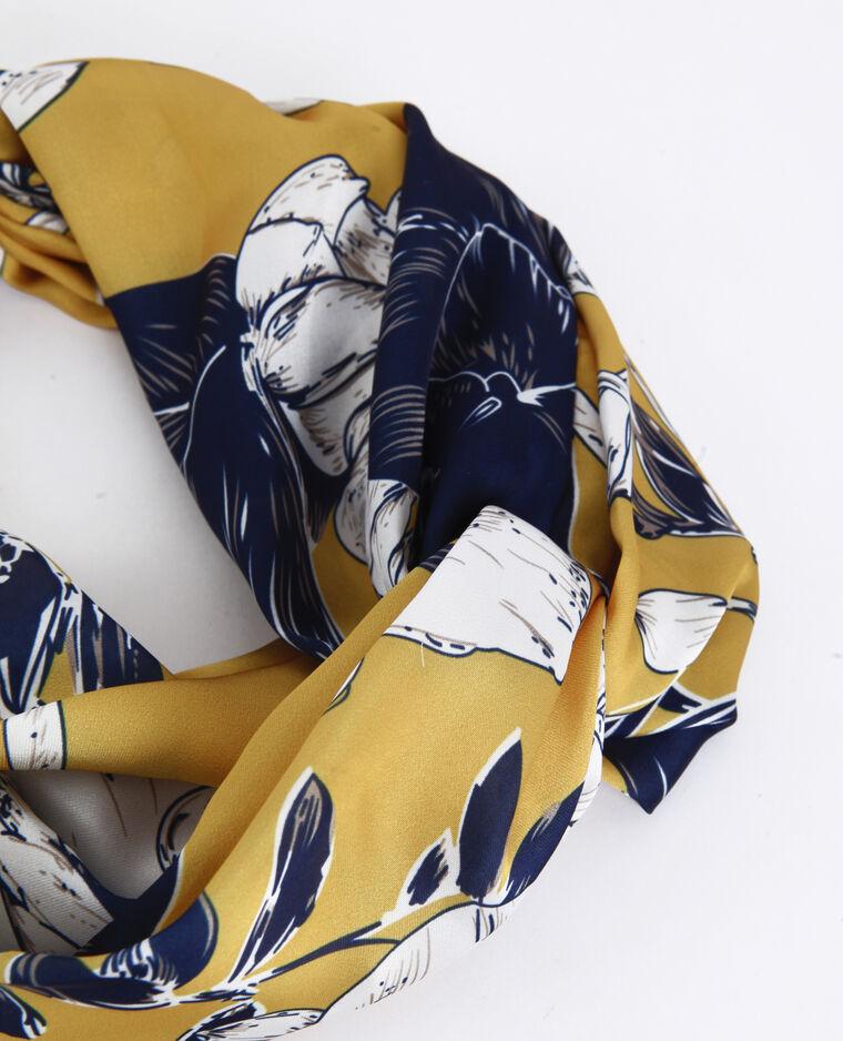 Satijnachtige haarband geel