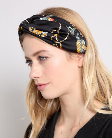 Headband satiné noir