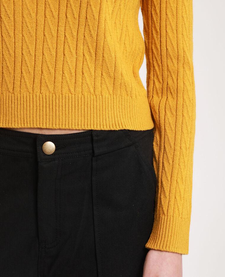 Pull court jaune
