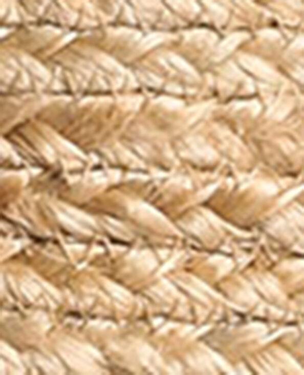 Schoudertas van jute geweven beige - Pimkie