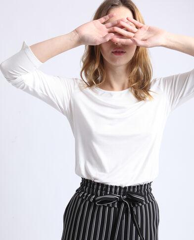 T-shirt basique blanc cassé